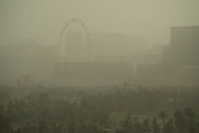 A Las Vegas Dust Storm on the second day of NAB 2015